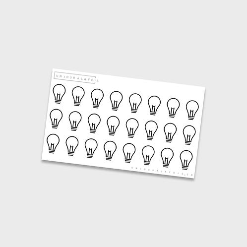 Ampoules || 24 autocollants