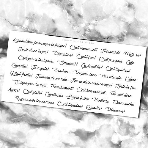 Expressions Québécoises || 37 autocollants