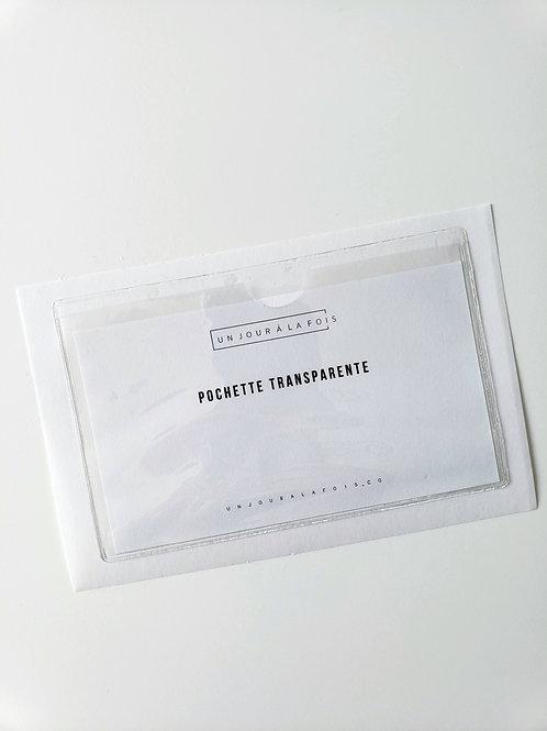 Pochette adhésive transparente