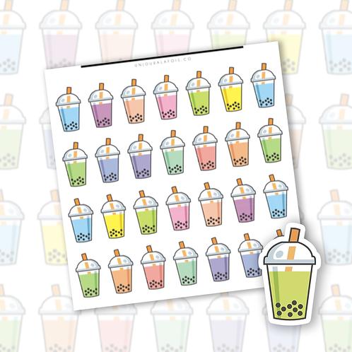 Bubble tea || 28 autocollants | #75