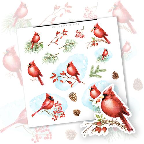 Cardinal    15 autocollants   #81