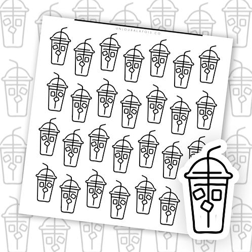Café glacé || 28 autocollants