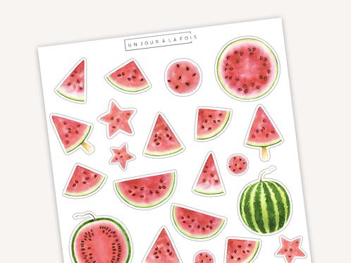 Melons d'eau || 21 autocollants | #31