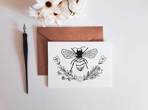 Carte de voeux abeille