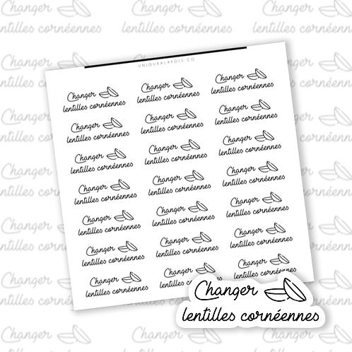 Lentilles cornéennes || 35 autocollants