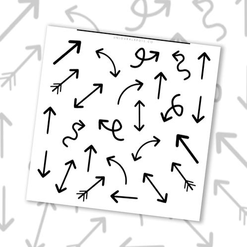 Flèches || 25 autocollants