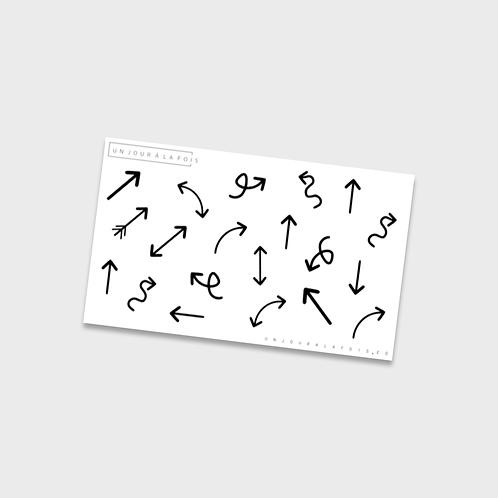 Flèches || 20 autocollants