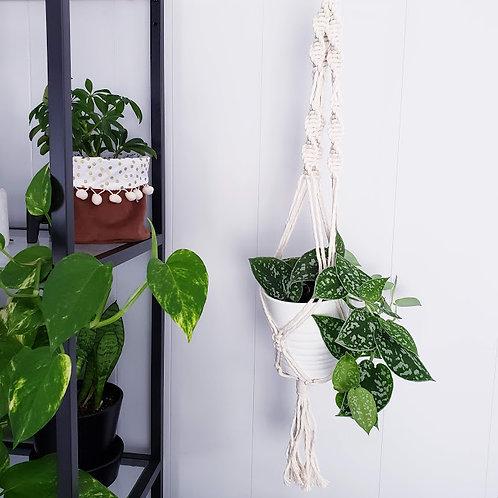 Jardinière en macramé