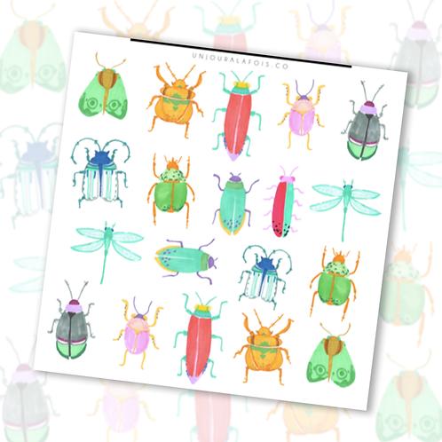 Insectes || 19 autocollants | #53