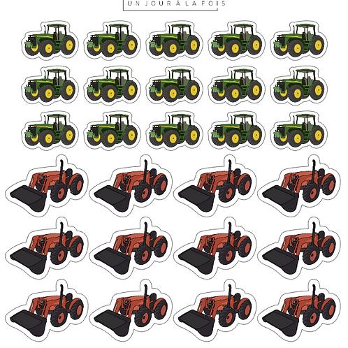 Tracteurs    27 autocollant