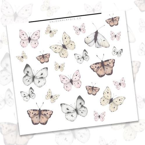 Papillons || 23 autocollants | #91