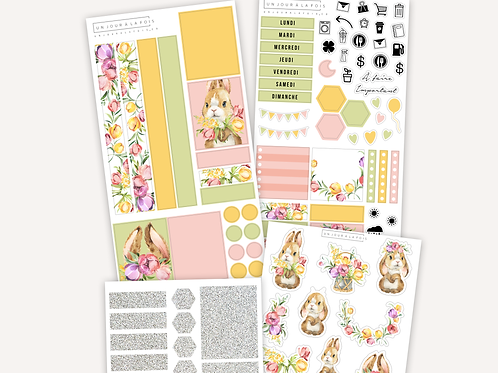 Kit lapins deluxe || 4 feuilles