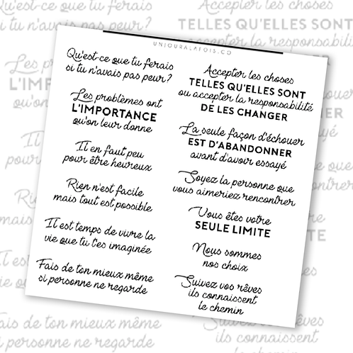 Citations || 12 autocollants | #10