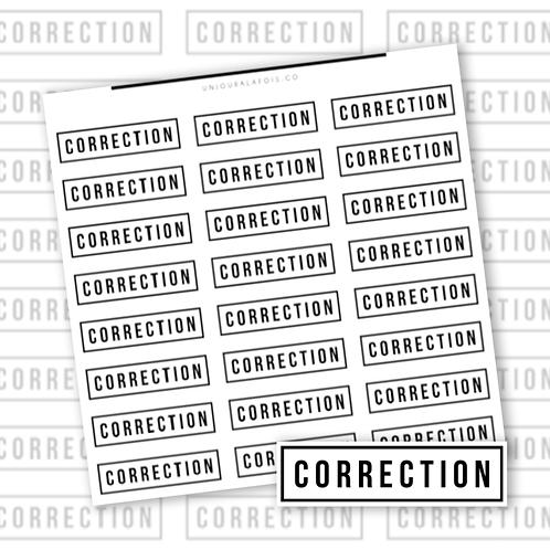Correction || 24 autocollants | #29