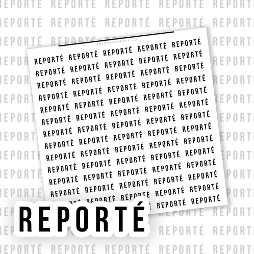 Reporté || 70 autocollants | #21