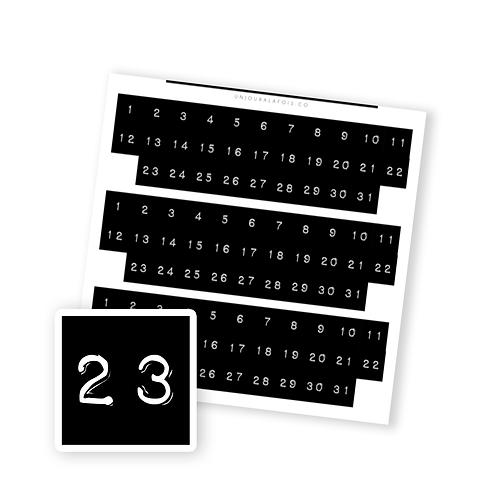 Dates || 93 autocollants | #3