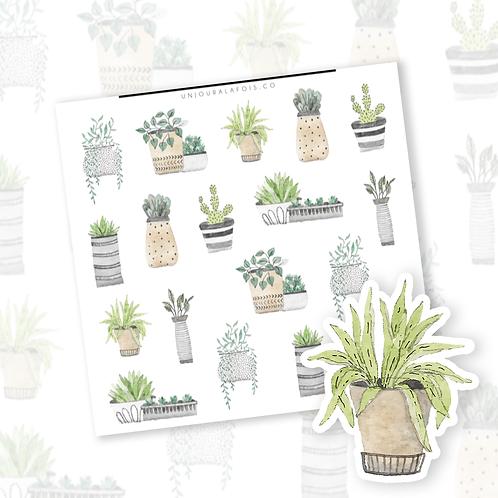 Plantes || 18 autocollants | #102