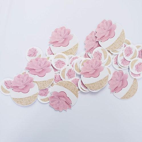 Confettis | Succulentes roses