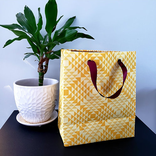 Sac cadeau réutilisable en tissu   Moyen