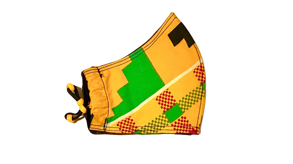 Child's Mask in African Print