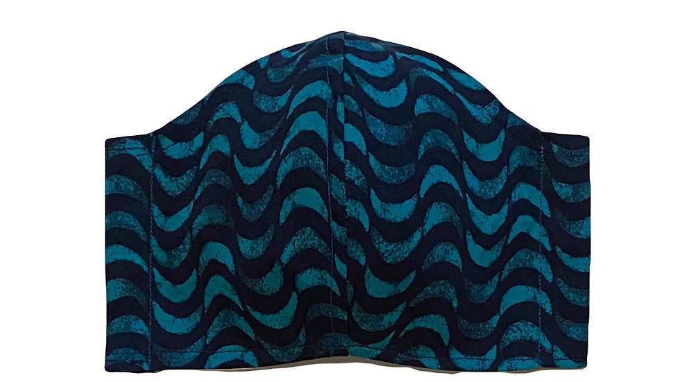 Teal Batik Filter Mask by Draya