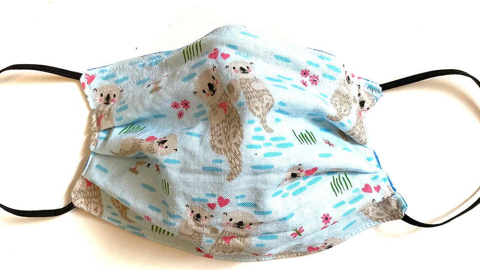 Kids' Otter Pleated Mask by Fran