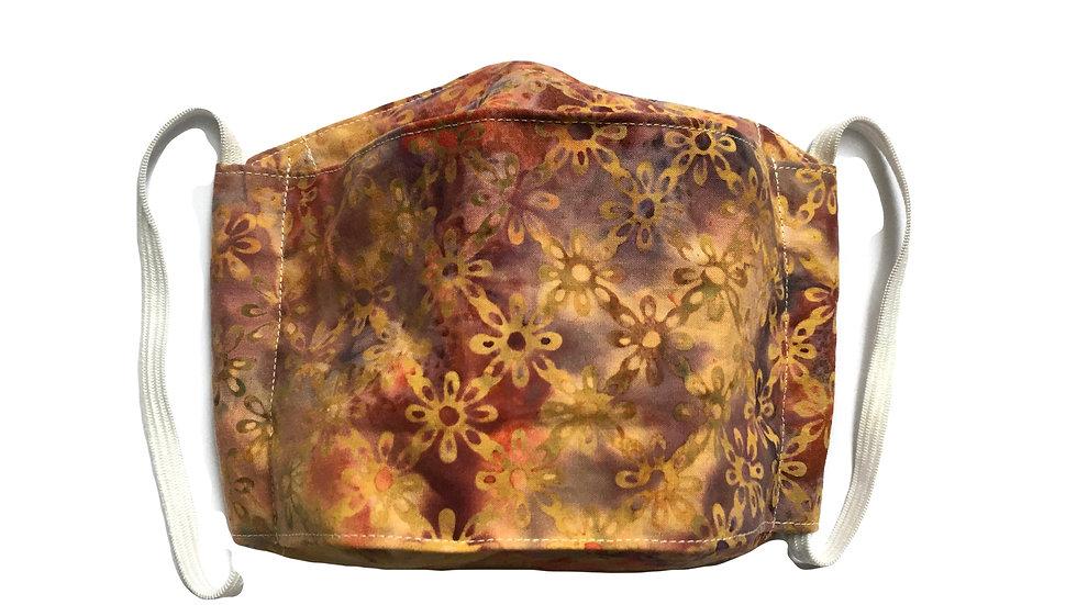 Origami Box Mask in purple/gold batikby Amanda