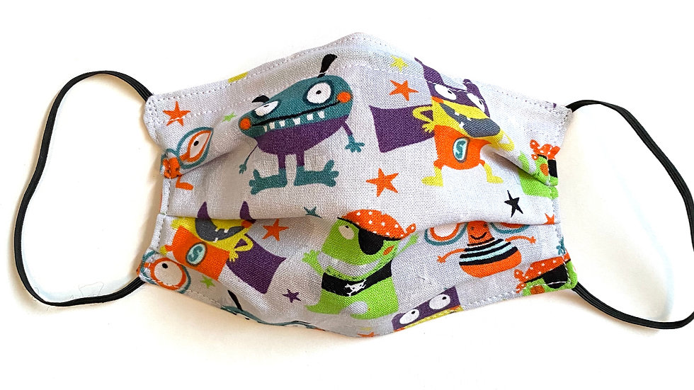 Kids' Monster Pleated Mask by Fran
