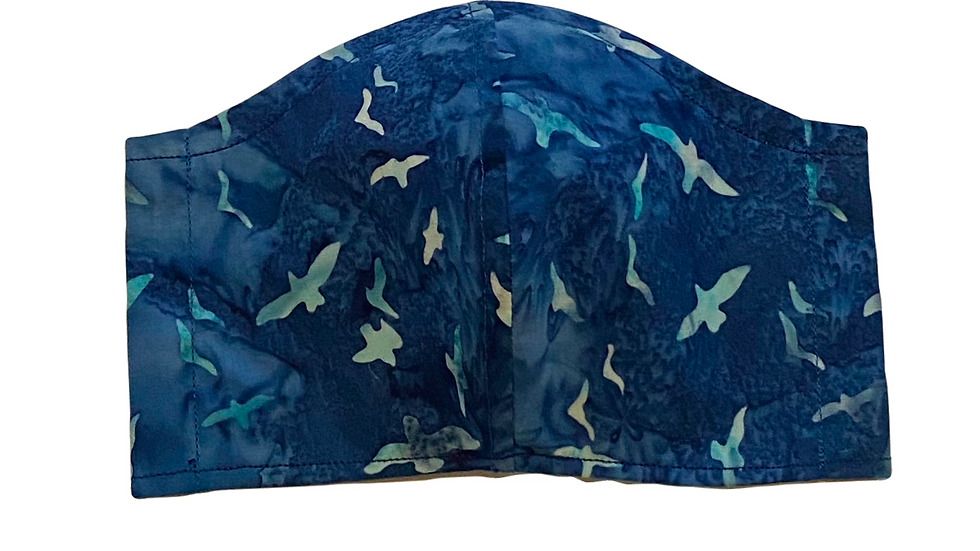 Blue Batik Filter Mask by Draya