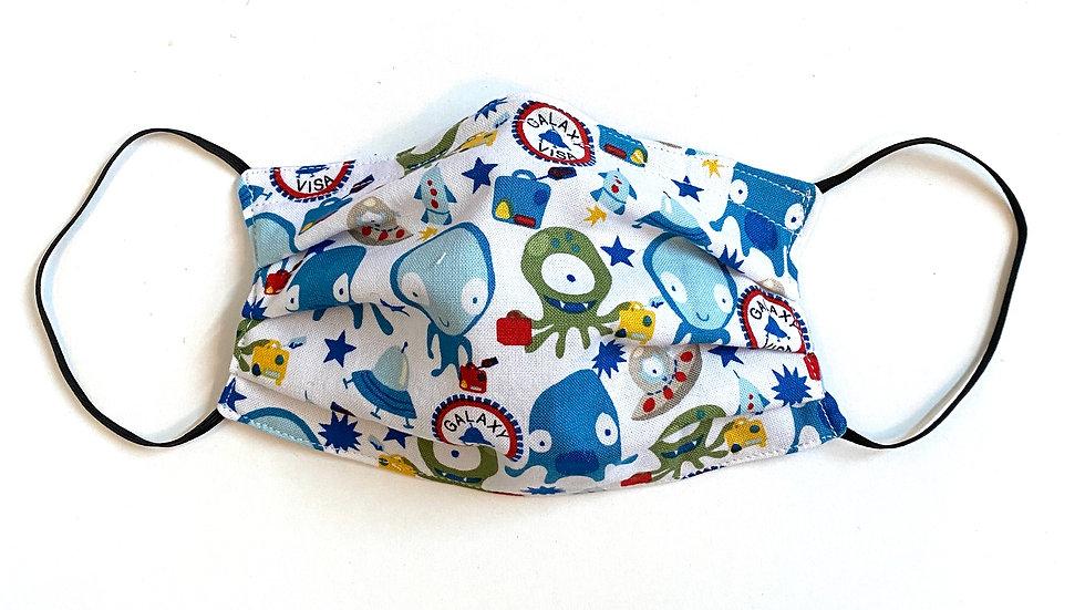 Kids' Alien Pleated Mask by Fran