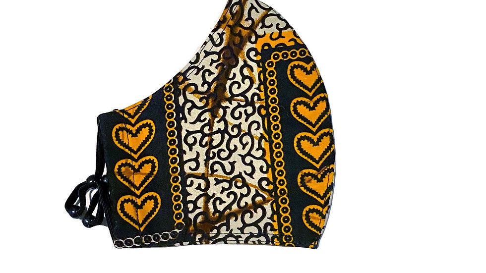 Mask in African Print 2 by Alfreda
