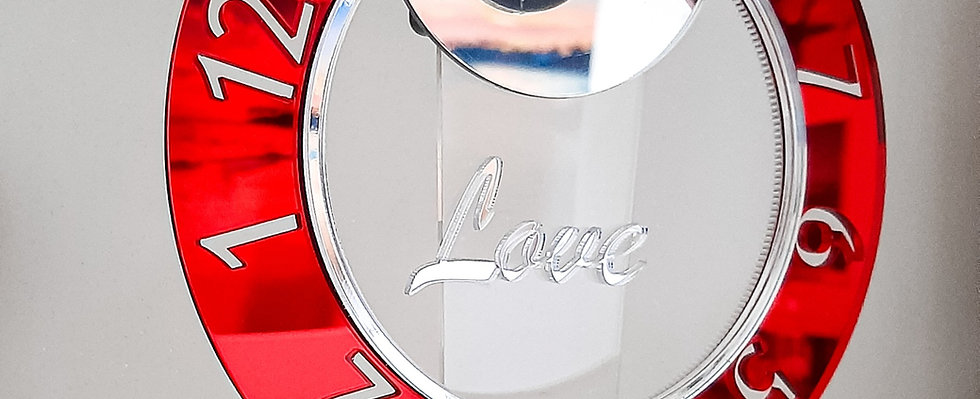 WoW Clock for table in LOVE - LIMITED EDITION Solo 20 pz