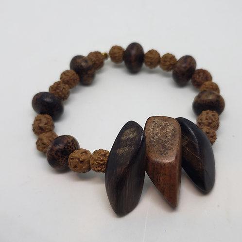 Wooden Bead, Wooden Shark Tooth Wrist Wear
