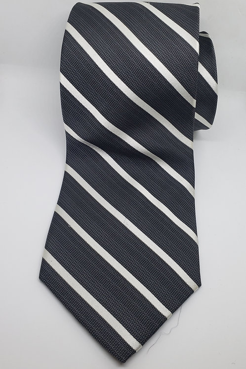 Black, White Striped Necktie