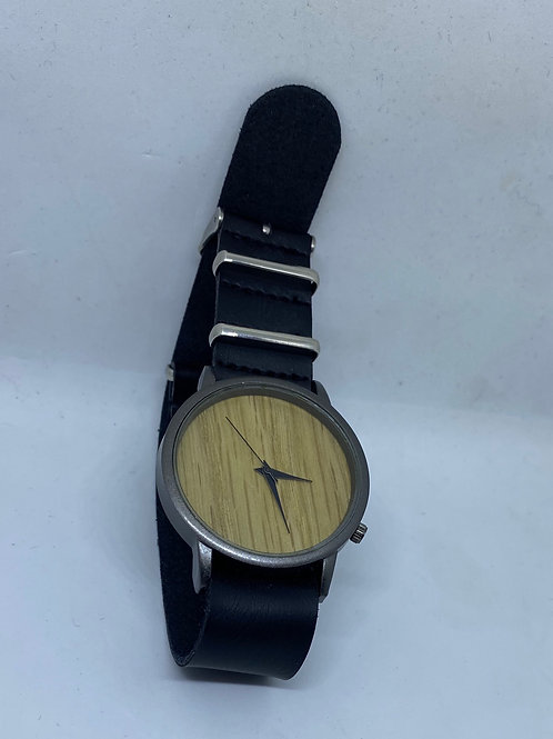 Wooden Dial, Black Minute & Second Hand Arms