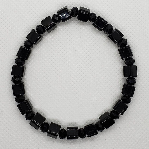 Black Square Beaded Wrist Wear