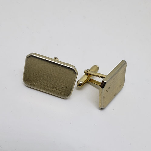 Gold Rectangular Cufflinks