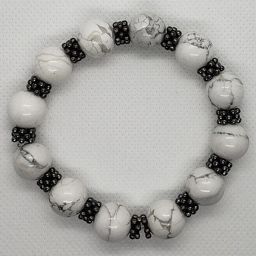 White Marbled Wrist Wear