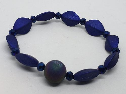Cobalt Blue Beaded Wrist Wear