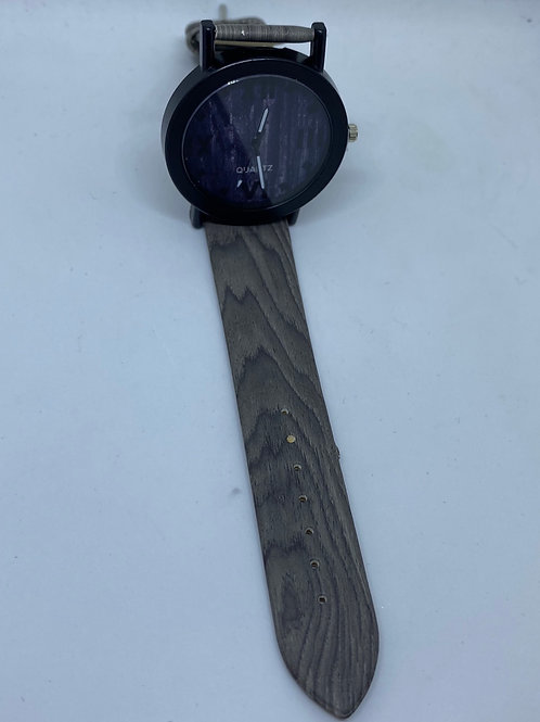 Grey Wood Dial, Roman Numeral Hour Markers