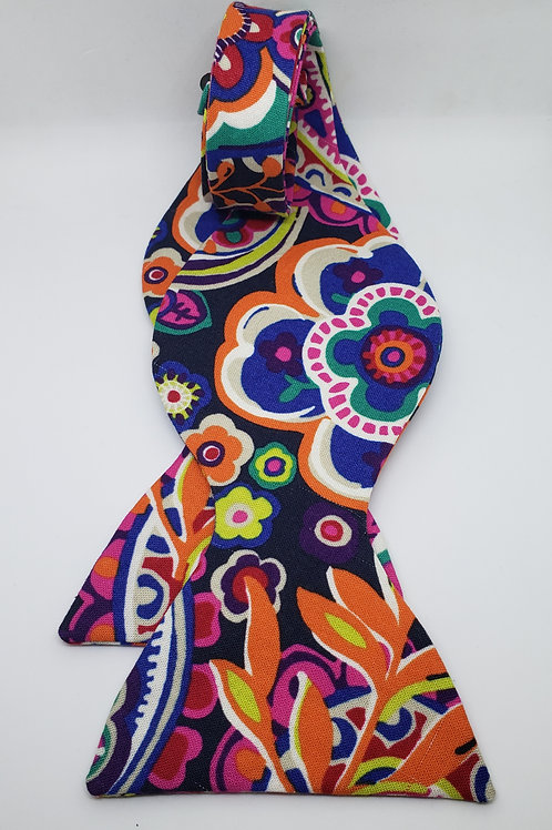 Multicolor Self Tying Floral Bowtie
