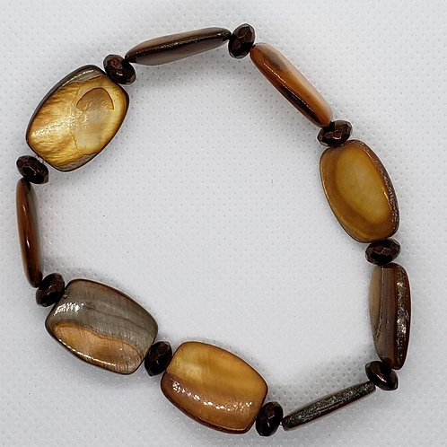 Golden and Brown Wrist Wear