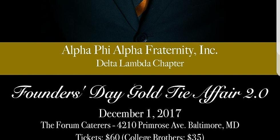 Alpha Phi Alpha Fraternity, Inc. Founder's Day Gold Tie Affair 2.0