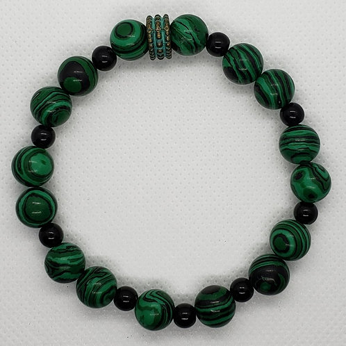 Green and Black Marbled Wrist Wear