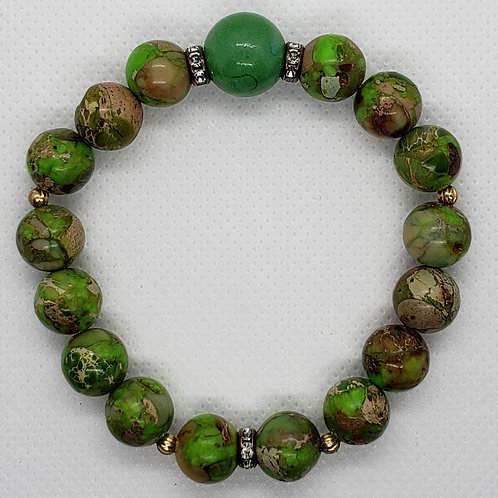 Green Jasper Beaded Wrist Wear