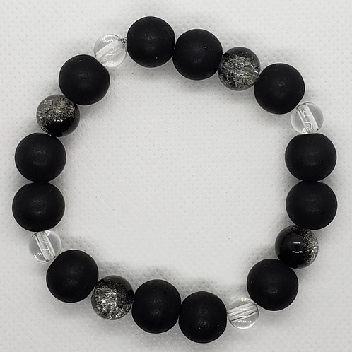 Black and Crystal Beaded Wrist Wear