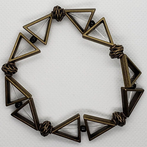 Metal Triangle Bronze and Black Wrist Wear