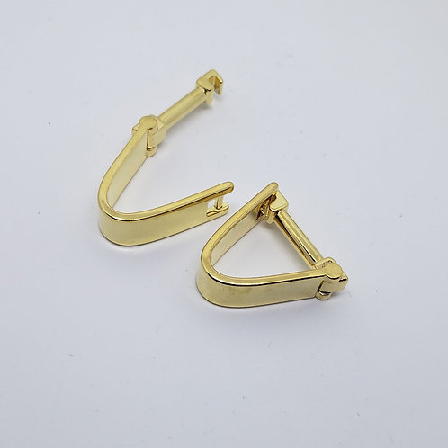 Gold Arched Cufflinks