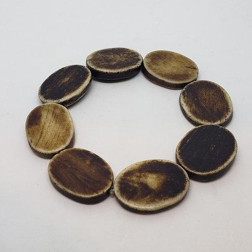 Flat Oval Wooden Wrist Wear