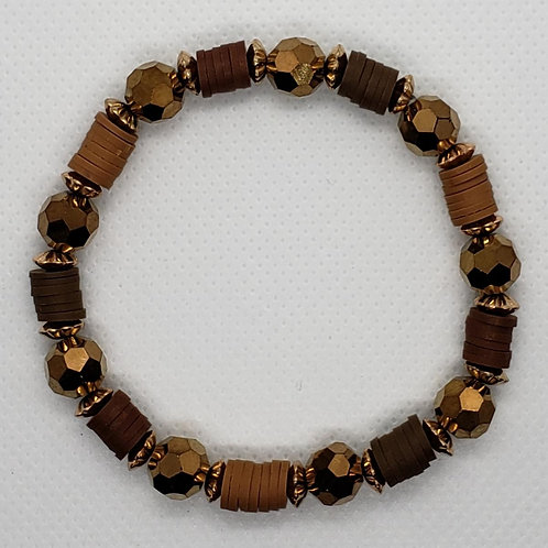 Bronze and Leather Wrist Wear